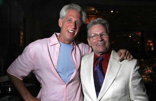 """Steven Fahle and """"Philanthropy World"""" magazine founder and publisher, Bob Hopkins, at the Park Cities Hilton in 2006, for Fete Set.  This event is honoring """"Philanthropy World"""" front-cover subject."""