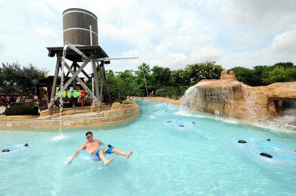 The 600 foot lazy river stretches around the park at Paradise Springs at Gaylord Texan in Grapevine, TX on June 12, 2016. (Alexandra Olivia/ Special Contributor)