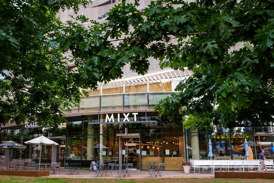 Mixt is located at McKinney and Olive in Uptown Dallas. Some of its neighbors include Starbucks Reserve, Malibu Poke and Del Frisco's Double Eagle Steak House.