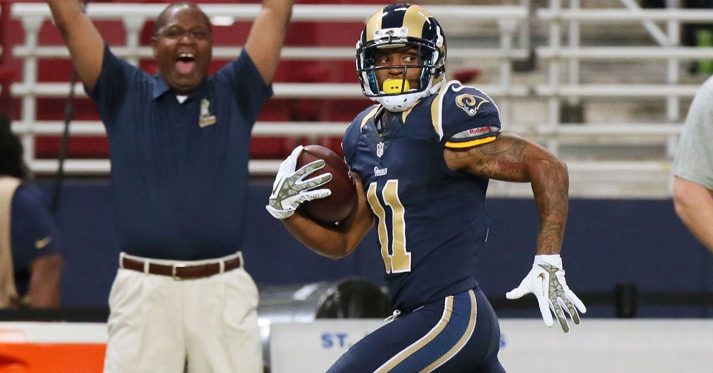 St. Louis Rams wide receiver Tavon Austin runs a 65-yard touchdown in first half of an NFL football game against the Chicago Bears on Sunday, Nov. 24, 2013, in St. Louis. (AP Photo/St. Louis Post-Dispatch, Chris Lee)