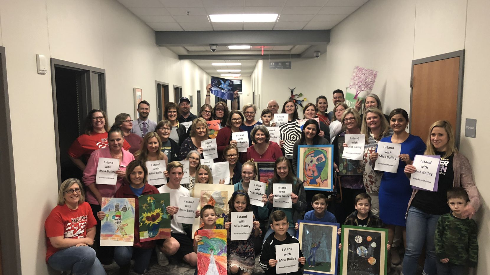 Approximately 40 parents and students showed up at Tuesday night's school board meeting to speak in support of Stacy Bailey.