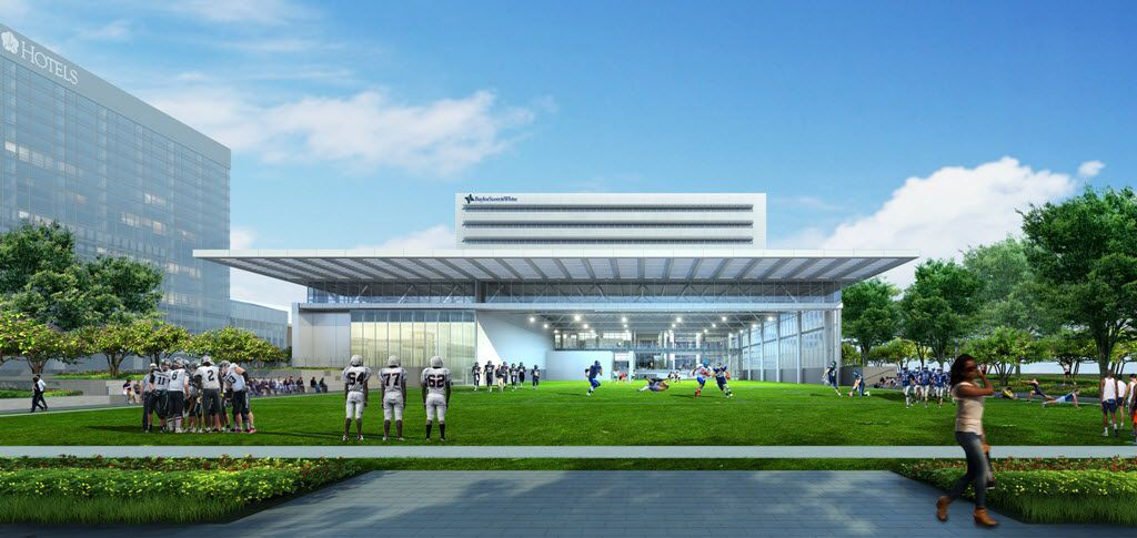 A rendering of the new Baylor Scott & White Sports Therapy & Research at The Star.