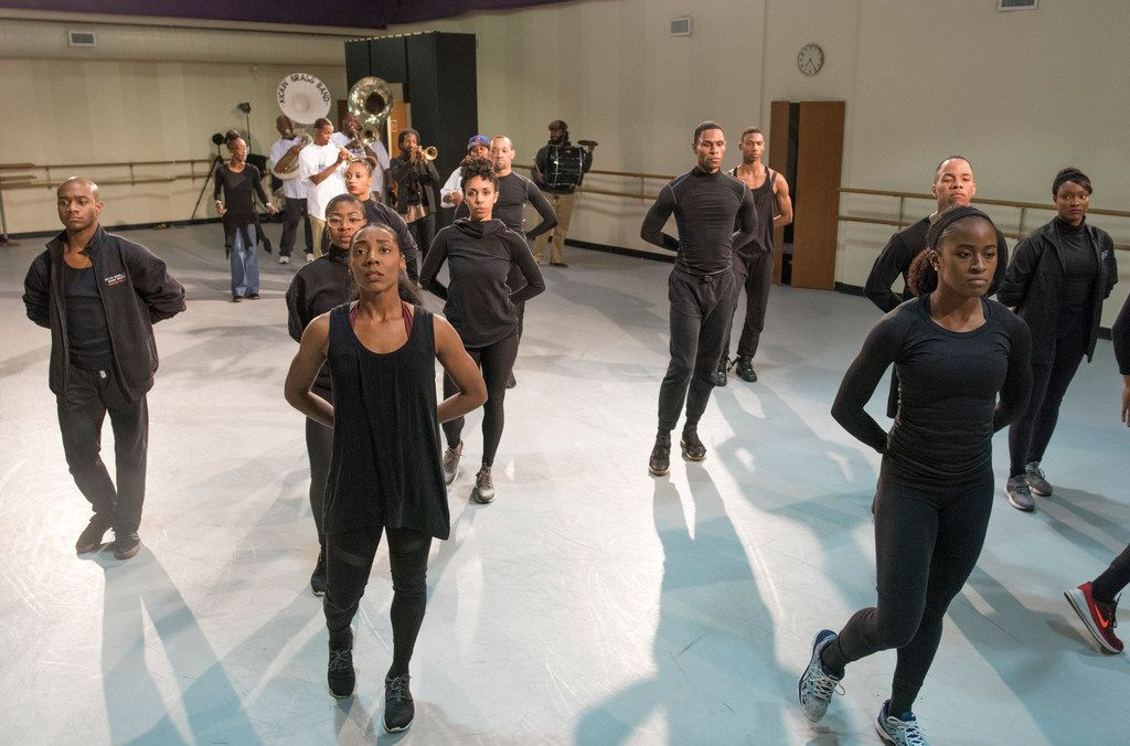 Dallas Black Dance Theatre and the Kickin' Brass Band join together to rehearse.