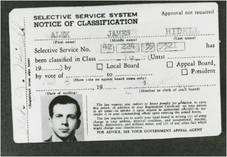 Fake ID carried by Lee Harvey Oswald showing his name as Alek James Hidell