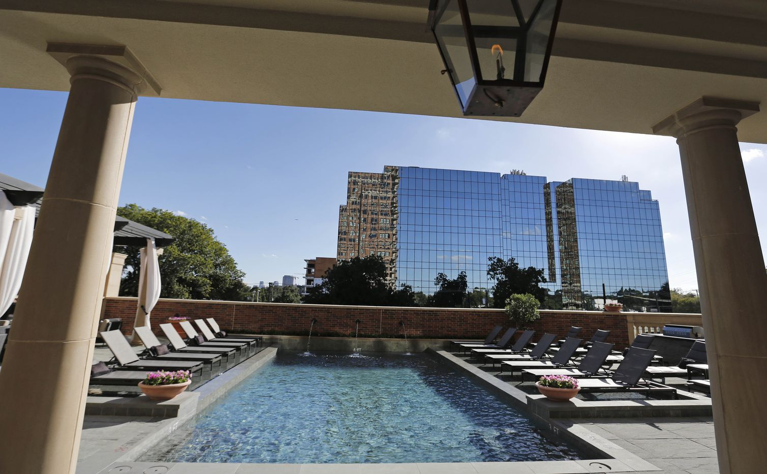 The pool on the third floor at the McKenzie, a new luxury   residential tower on the edge of Highland Park.