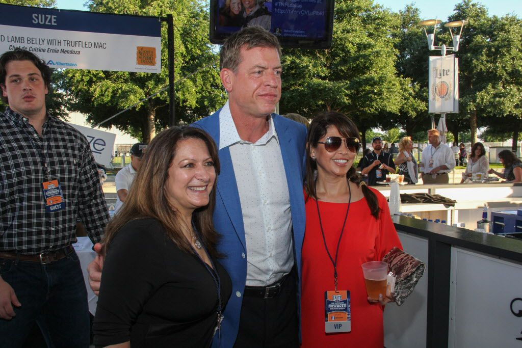 Former Dallas Cowboys star Troy Aikman posed with fans at Taste of the NFL.