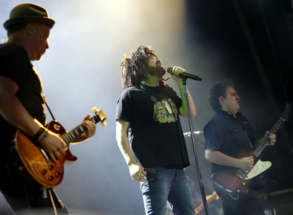 Counting Crows performs during Kaaboo Texas at AT&T Stadium in Arlington on May 12, 2019.