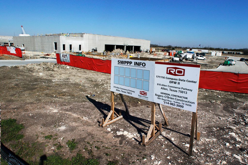 CyrusOne is constructing a 340,000-square foot data center facility adjacent to the TierPoint data center in Allen.