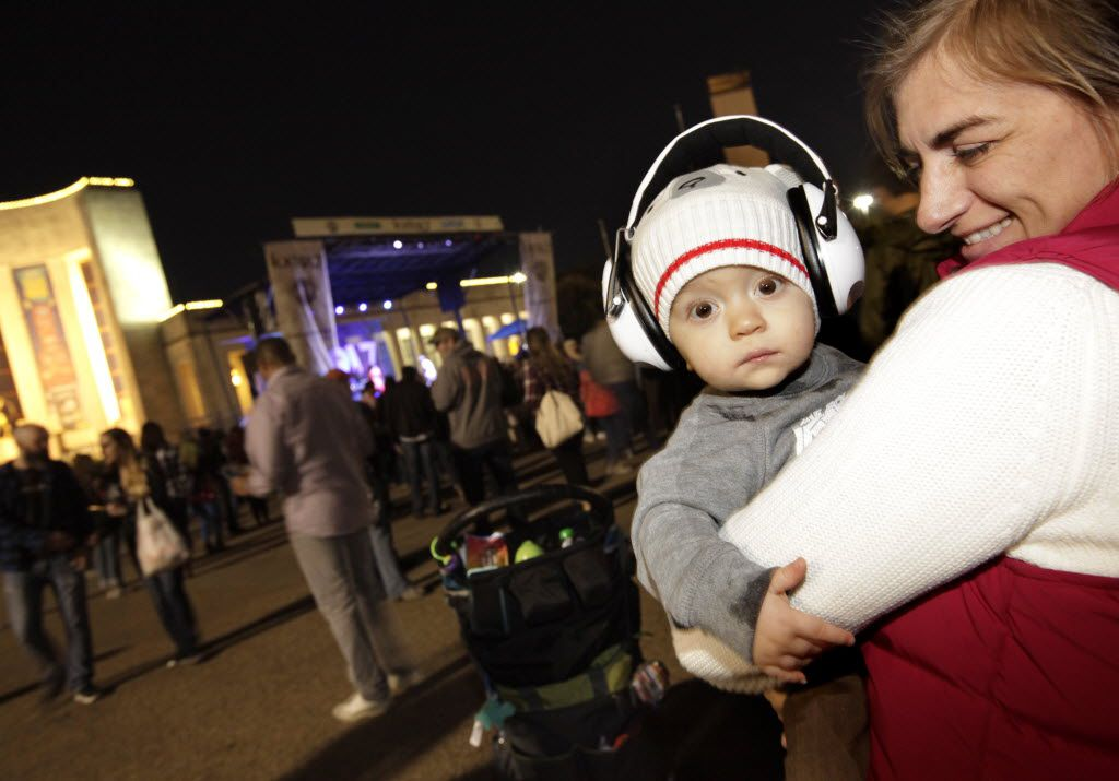 1-yr-old Duncan Clayton, left, and Laura Booker enjoy the music during the Untapped Festival Dallas held at Fair Park in Dallas, TX, on Nov. 7, 2015.