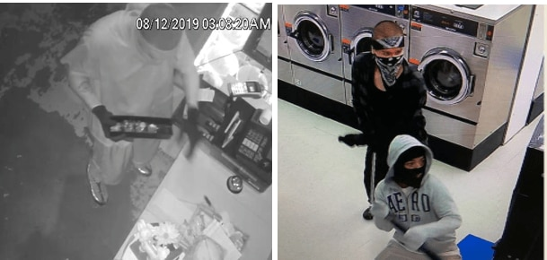 Police released these images of three men suspected in a string of burglaries of businesses in the Rylie area of southeastern Dallas in August.