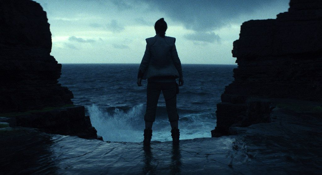 "This image released by Lucasfilm shows a scene from the upcoming ""Star Wars: The Last Jedi,"" expected in theaters in December.  (Industrial Light & Magic/Lucasfilm via AP)"