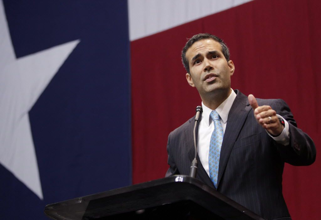 George P. Bush Texas Land Commissioner speaks at the celebration for Texas Governor-elect Greg Abbott at Moody Theatre in Austin on  November 4, 2014.