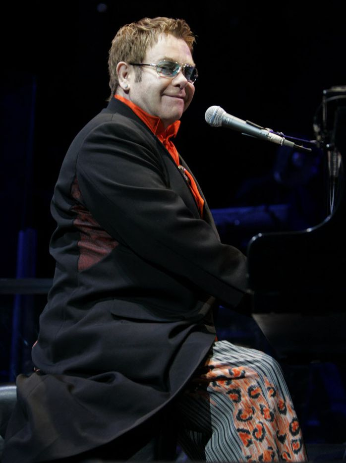 March 24, 2005: Elton John performed at American Airlines Center in downtown Dallas.