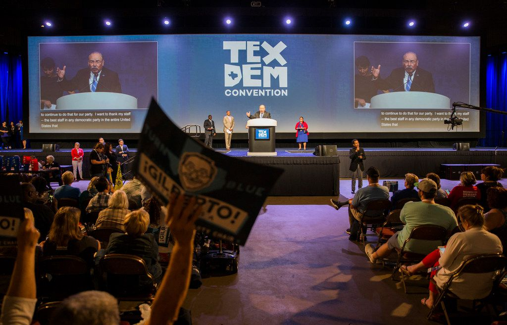 Gilberto Hinojosa speaks after being nominated as party chair during the Texas Democratic Convention on Saturday, June 23, 2018 at the Fort Worth Convention Center in Fort Worth.