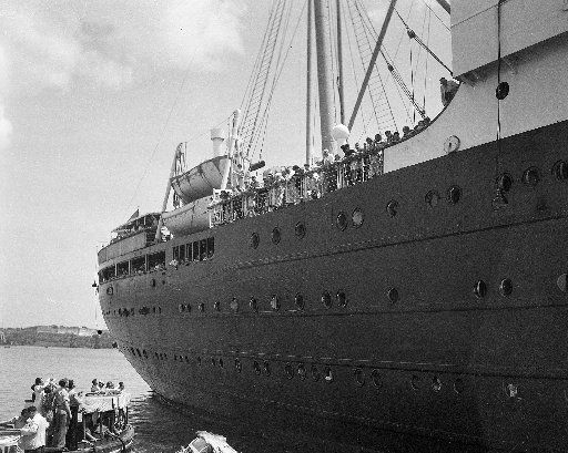 The German liner St. Louis was denied entrance to the Havana harbor in Cuba (pictured) and later to the United States, forcing it to sail back across the Atlantic and return to Germany. More than 900 German Jewish refugees were aboard the ship.