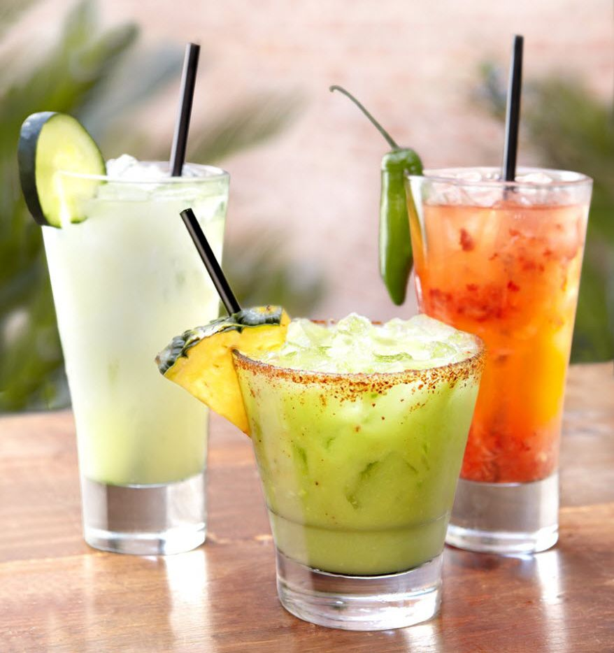 Meso Maya's Cucumber Margarita, Avocado Margarita and Serrano Berry Margarita will be featured during its Margarita Dinner for Margarita Day event.