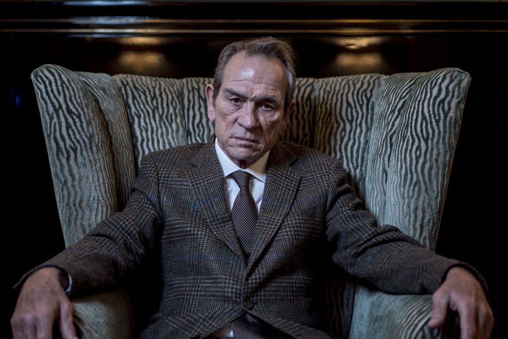 "Tommy Lee Jones in a still from 2014's ""The Homesman.""  Jones, who hails from San Saba, Texas, signed onto a letter opposing the Trans-Pecos pipeline."