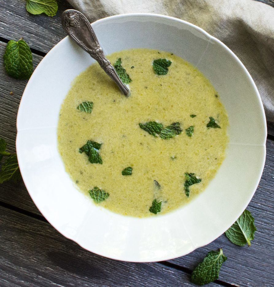 Asparagus and Tarragon Soup by A Pleasant Little Kitchen