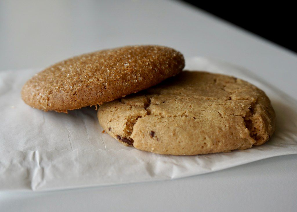 Unrefined Bakery's ginger molasses and chocolate chip cookies are among the many dairy-free options.