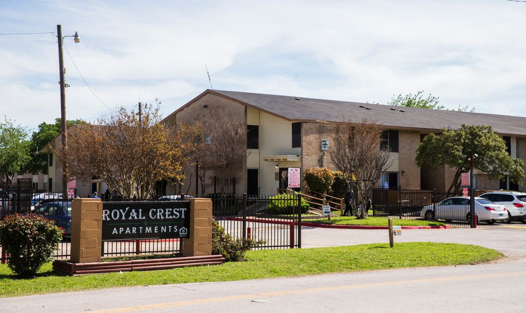 Royal Crest Apartments on April 15, 2019 in the 3500 block of Wilhurt Avenue in Dallas.