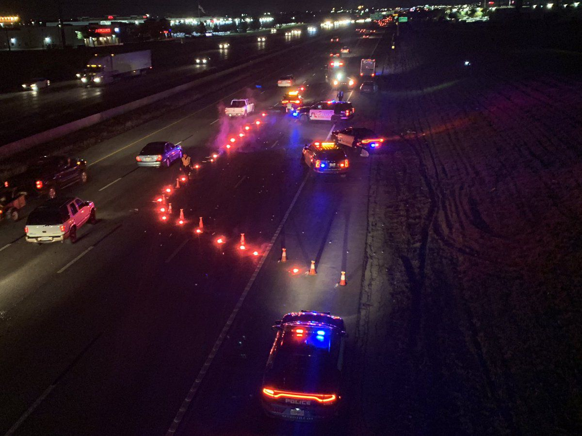 The shooting occurred about 8 p.m. on I-20 near New York Avenue.