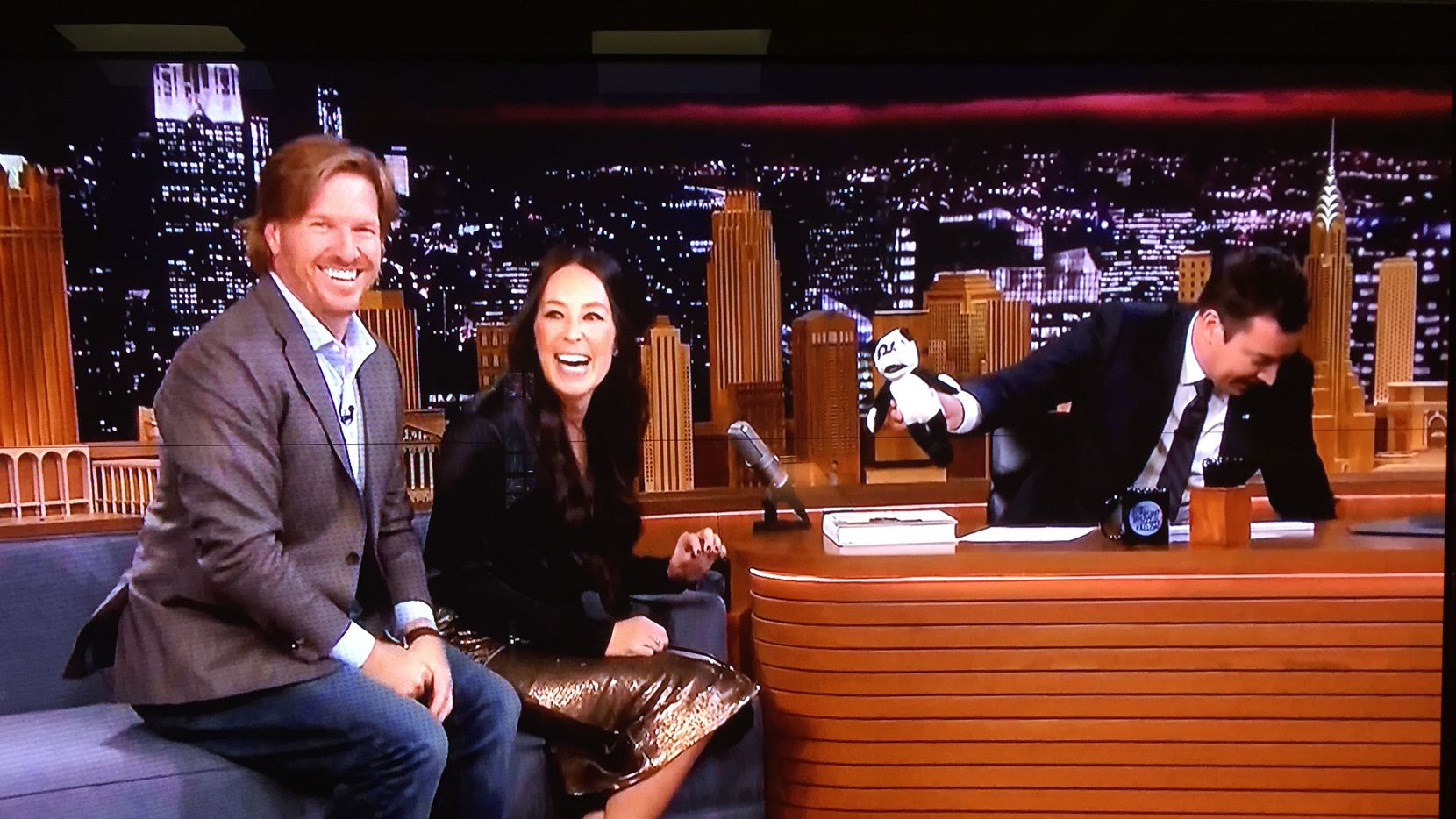 Chip and Joanna Gaines appeared on The Tonight Show with Jimmy Fallon on Friday, Nov. 9, 2018.