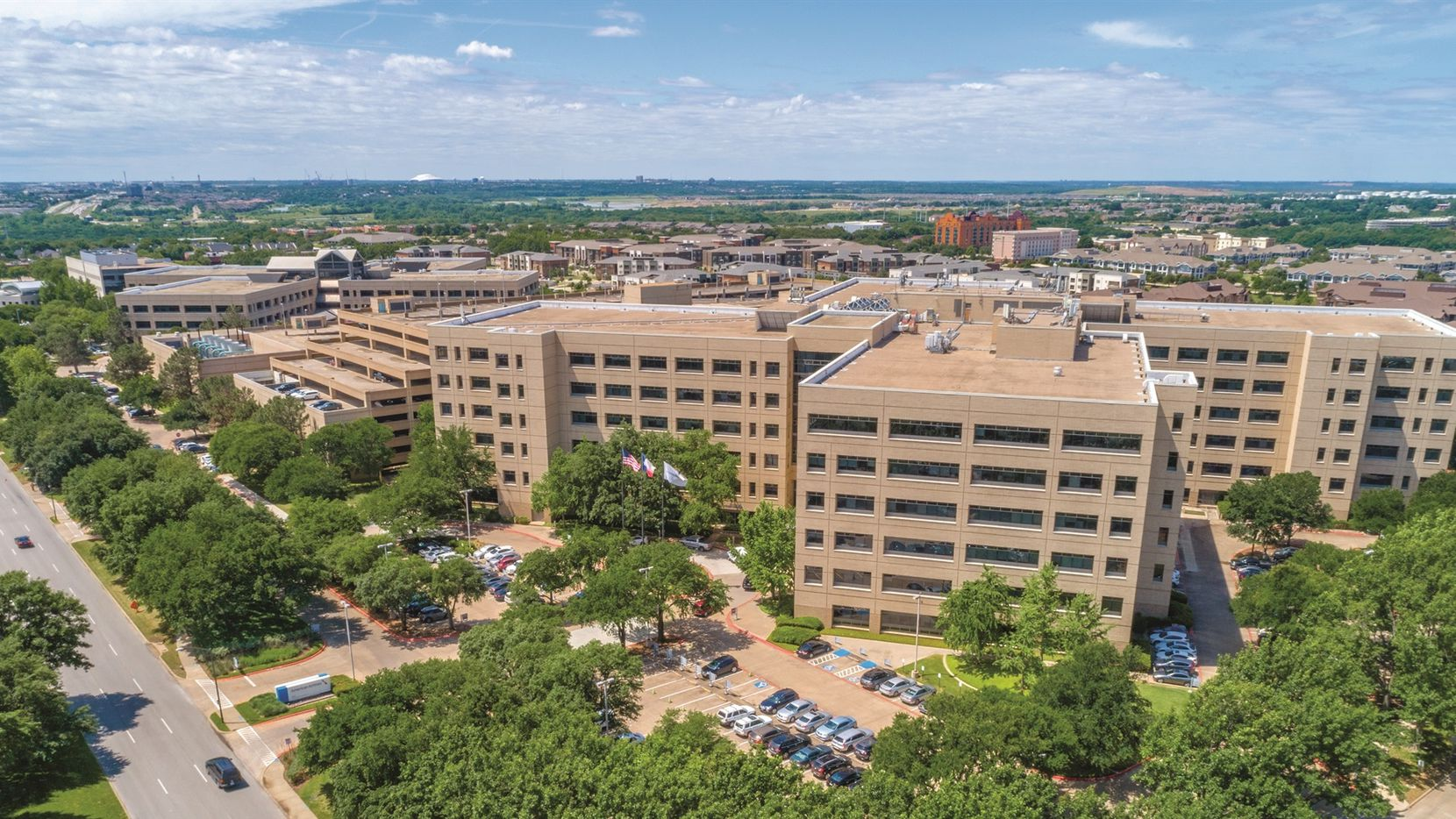 American Airlines old headquarters on the northeast edge of Fort Worth has almost 1.4 million square feet.