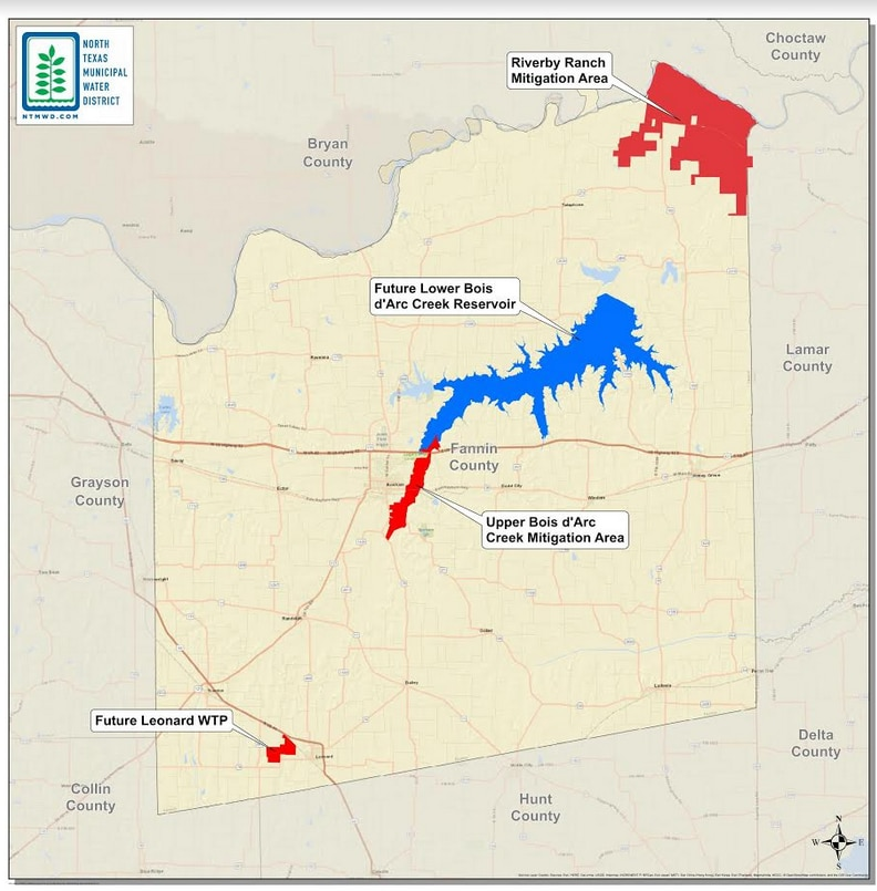 An illustration of the project area provided by the North Texas Municipal Water District. The project will be a key source of water for North Texas' rapidly growing population.