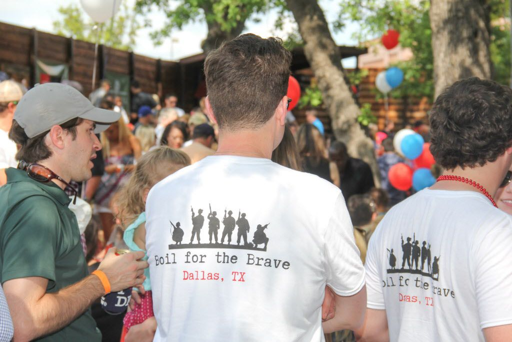 The 6th Annual Boil for the Brave crawfish boil by The Rosedale Group benefitting Veterans Rehabilitation program was held at The Rustic in Uptown on April 18, 2015