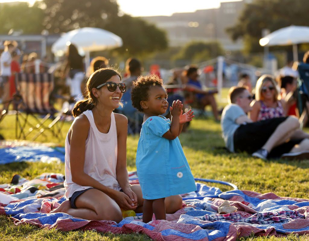 Reunion Lawn Party offers the chance to lounge  near a beloved Dallas landmark, Reunion Tower.