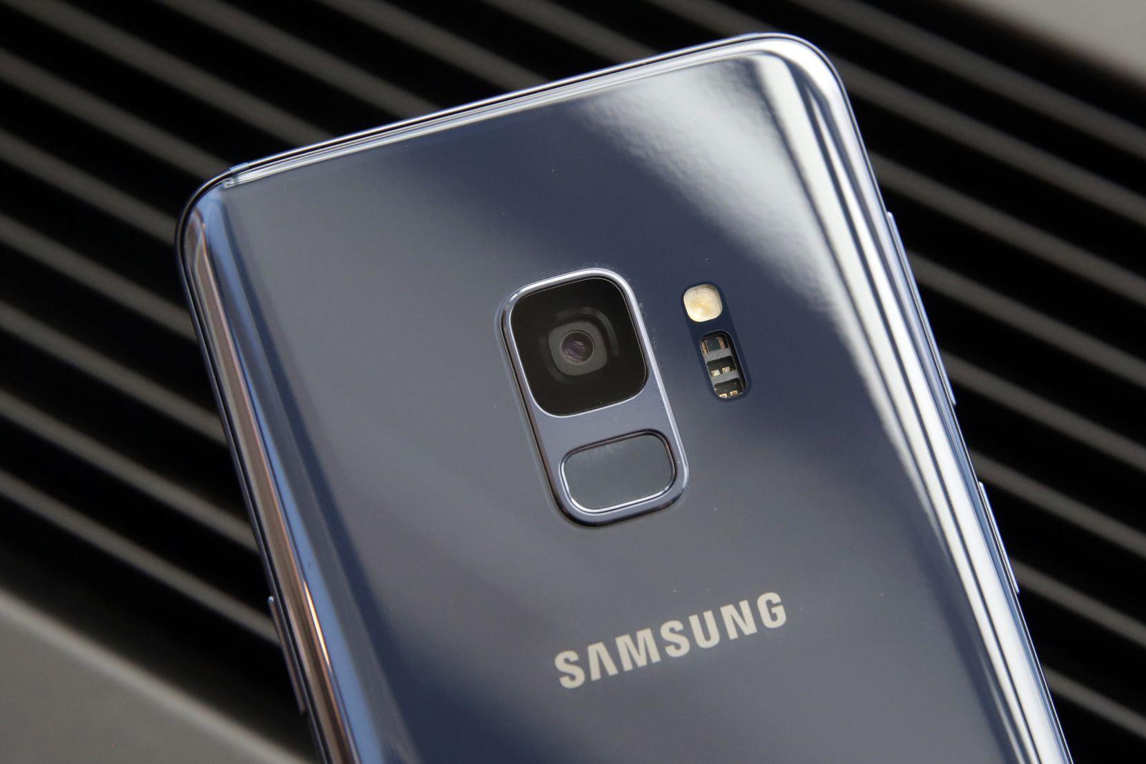 The Samsung Galaxy S9's fingerprint sensor  has moved below the camera lens.