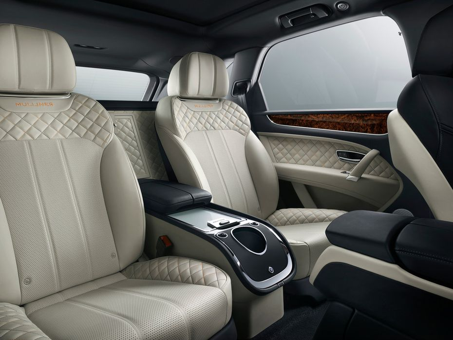The Bentley Bentayga Mulliner, which Bentley calls the Ultimate Luxury SUV, comes with a bespoke embroidered interior.