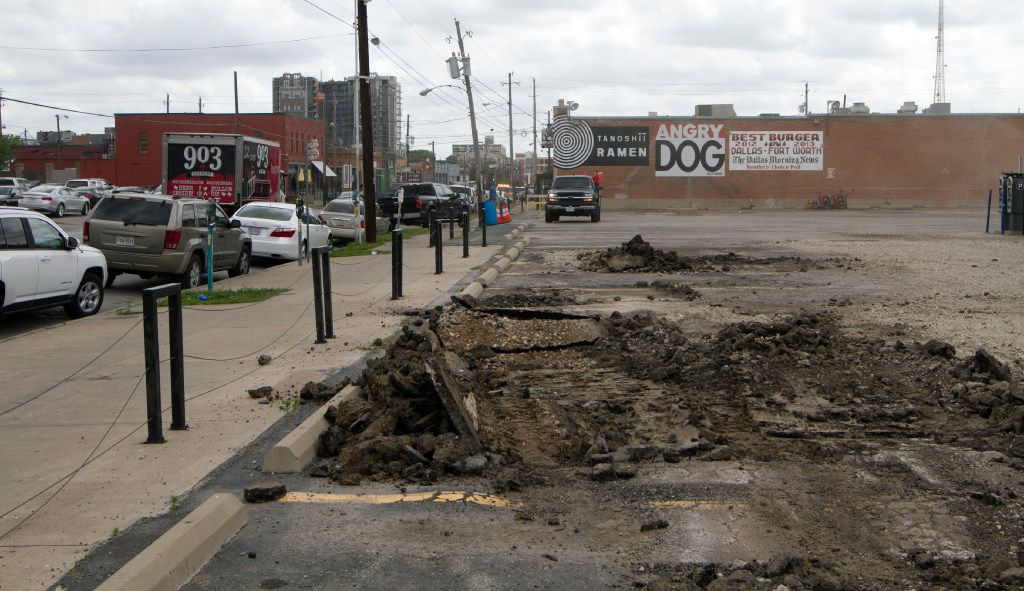 Commerce St. in Deep Ellum on Tuesday