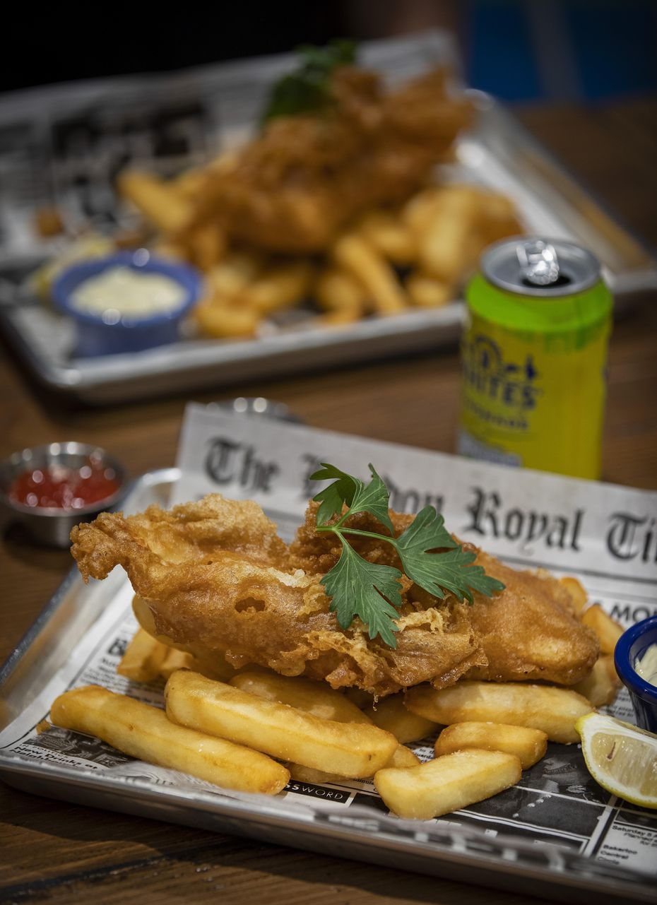 Fish and chips are a favorite at Fish & Fizz.