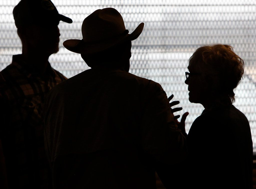 A group of local supporters converse while in line waiting to be served during the final weekend of operation for Flores Barbecue in Whitney. The company will be re-locating to Tarrant County. The popular restaurant is moving to Fort Worth where they will initially re-open the business before moving into a true restaurant in the early summer of 2020. Pitmaster and owner Michael Wyont and his staff served loyal customers at Flores Barbecue in Whitney during their final weekend of business. Some of his loyal customers waited up to an hour in line for his famous barbecue and share their well wishes on Saturday February 2, 2019 (Steve Hamm/ Special Contributor)