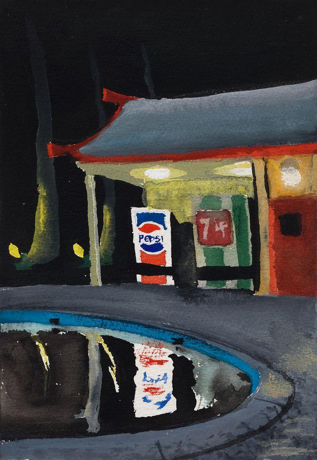 Dike Blair Untitled, 1986; gouache on paper