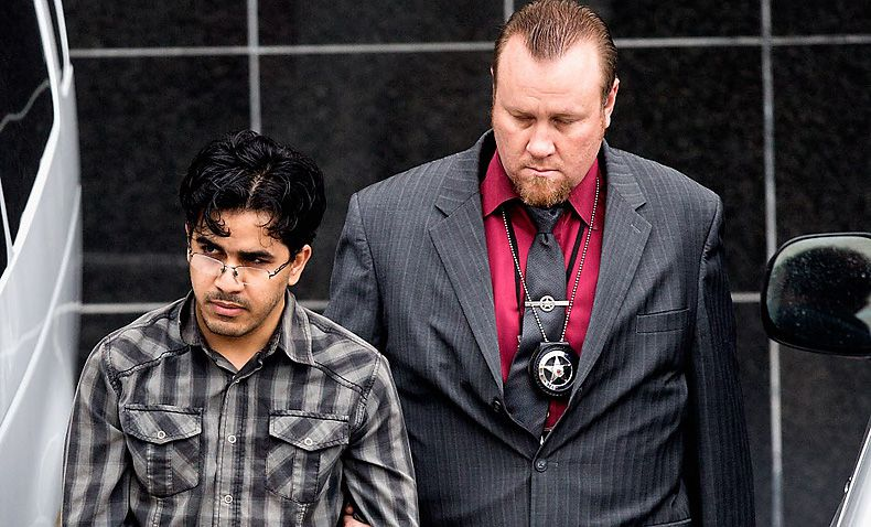 U.S. Marshals escort Omar Faraj Saeed Al Hardan from the Bob Casey Federal Courthouse on Jan. 8 in Houston. Al Hardan, who came to Houston from Iraq in 2009, pleaded not guilty on Jan. 13 to three charges, including attempting to provide support to a designated terrorist organization.