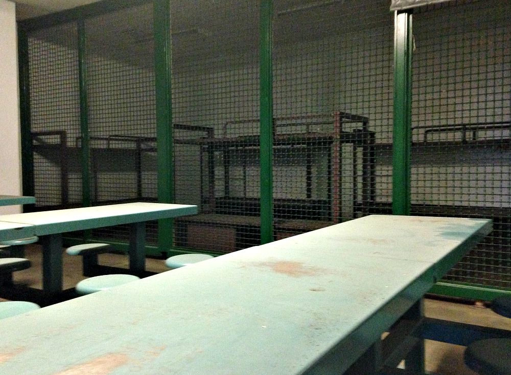 Here's where medium-security prisoners slept and ate at the old Dawson Jail.