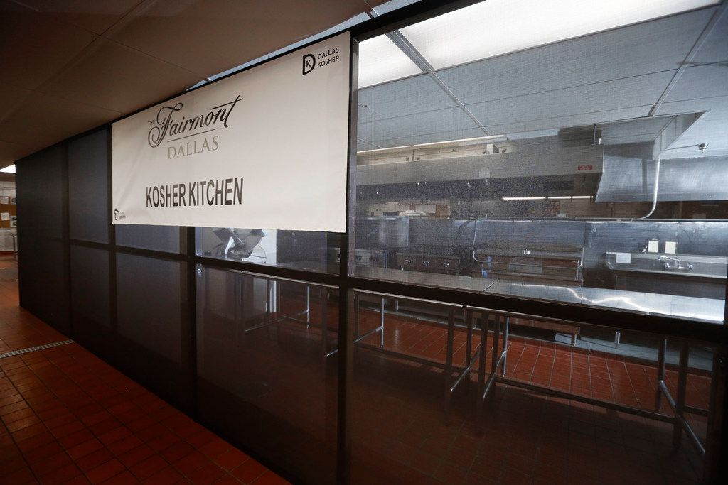 The kosher kitchen at the Fairmont Dallas hotel is kept separate from the rest of the kitchen.