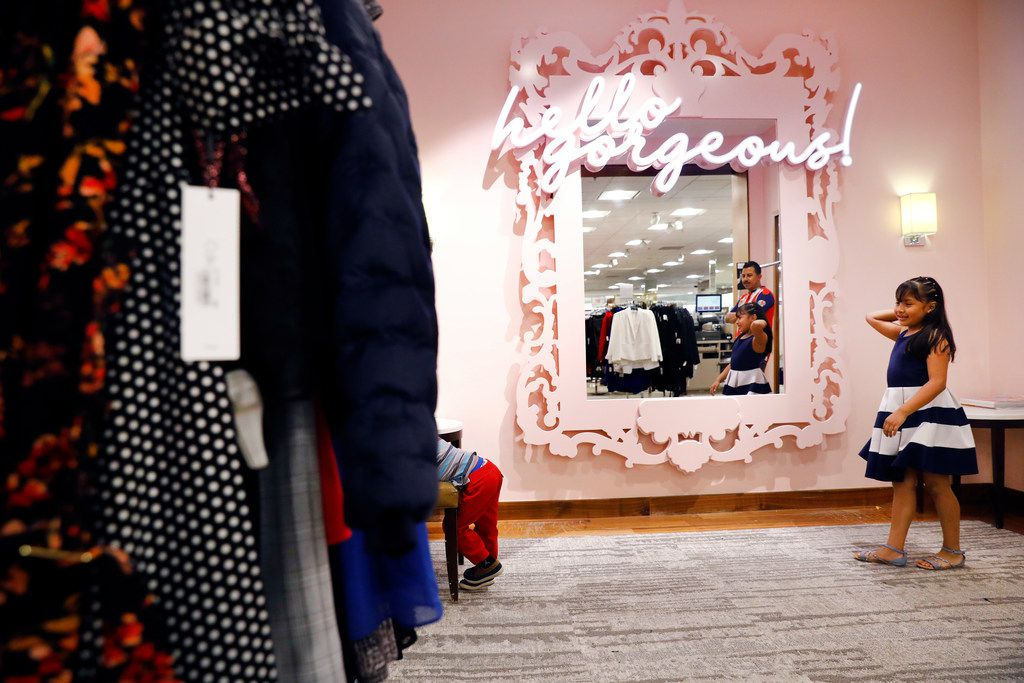 A selfie mirror outside one of the fitting rooms is part of the upgrades made to the Macy's store at NorthPark Center.