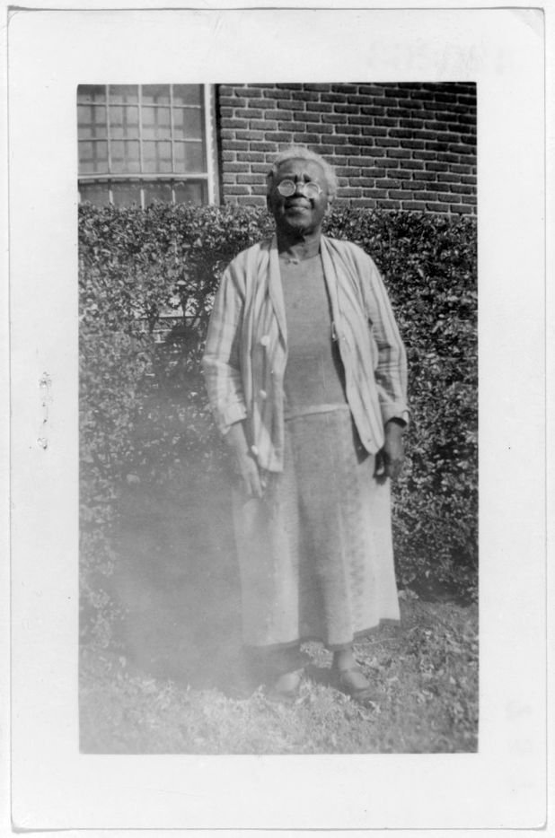 Laura Redman, ex-slave, shown in Dallas, on Jan. 28, 1938. The photo is from a collection of portraits of African American ex-slaves created by the U.S. Works Progress Administration, for the Federal Writers' Project slave narratives collection.