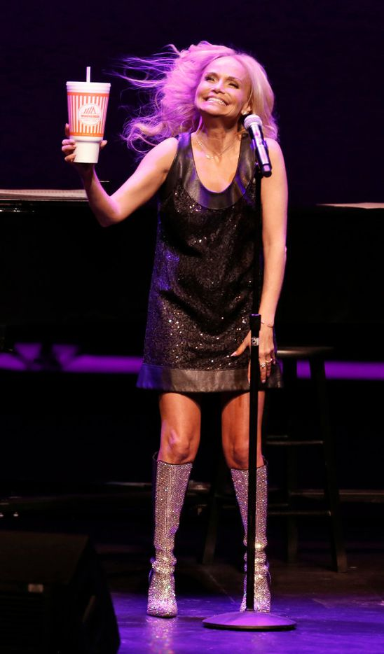 Kristin Chenoweth talks about how much she loves Whataburger during her performance at Winspear Opera House in Dallas on January 25, 2017. (Nathan Hunsinger/The Dallas Morning News)