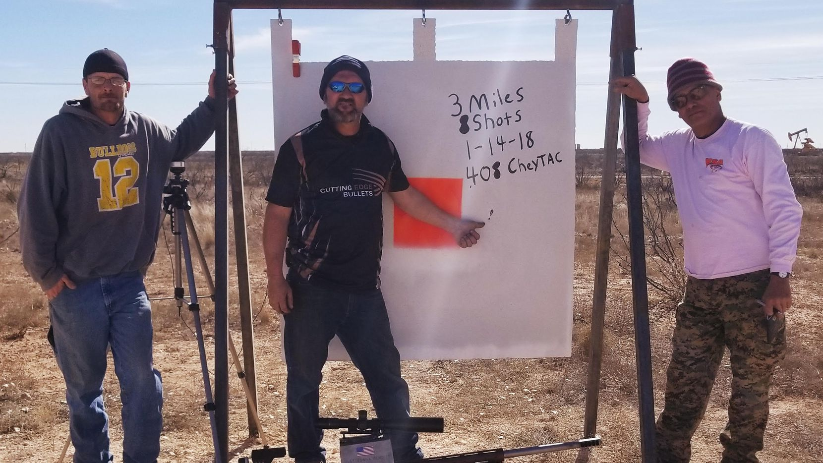 Bill Poor stands next to his target on Jan. 14