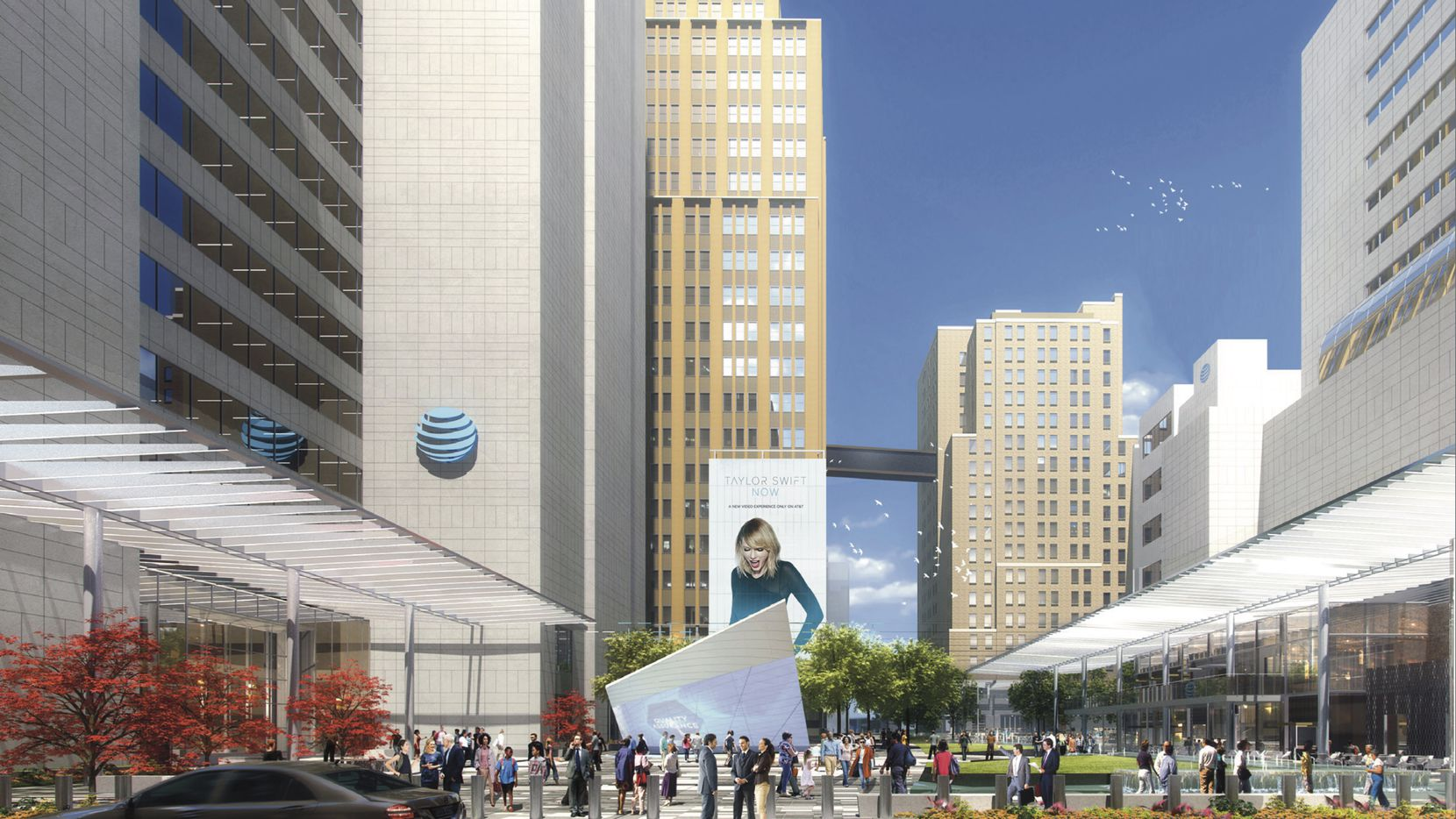 AT&T's Discovery District on Commerce Street will include new public gathering areas, restaurants and retail space at the company's downtown headquarters.