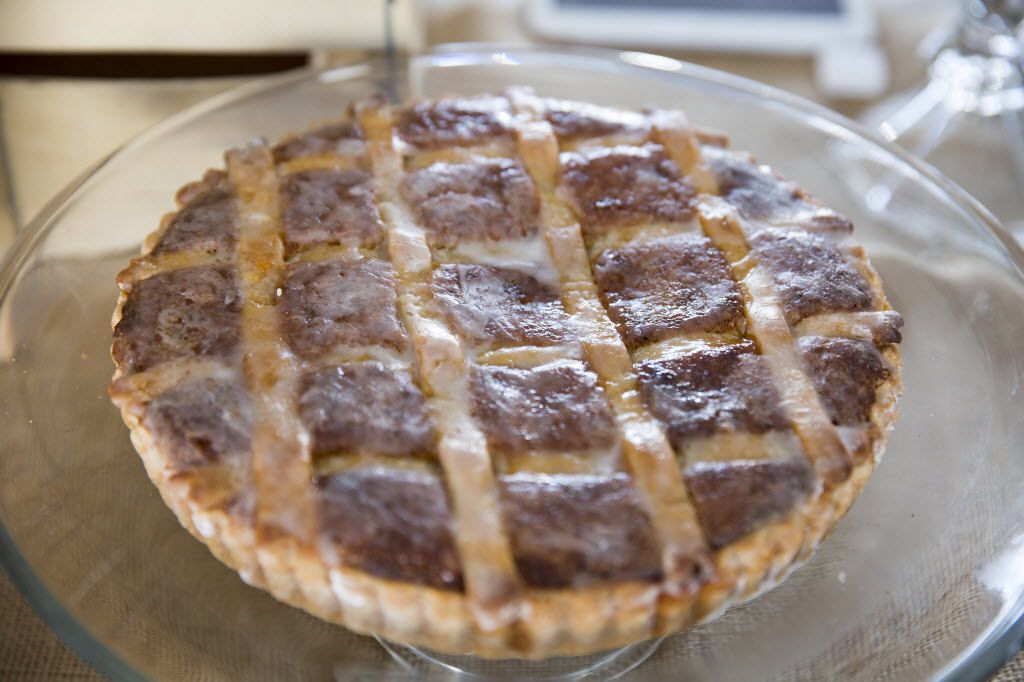 The Proper Baking Co.'s Bakewell tart is shown at the Dallas Farmers Market, in Dallas, Texas, Sunday, November 8, 2015. (Allison Slomowitz/ Special Contributor)