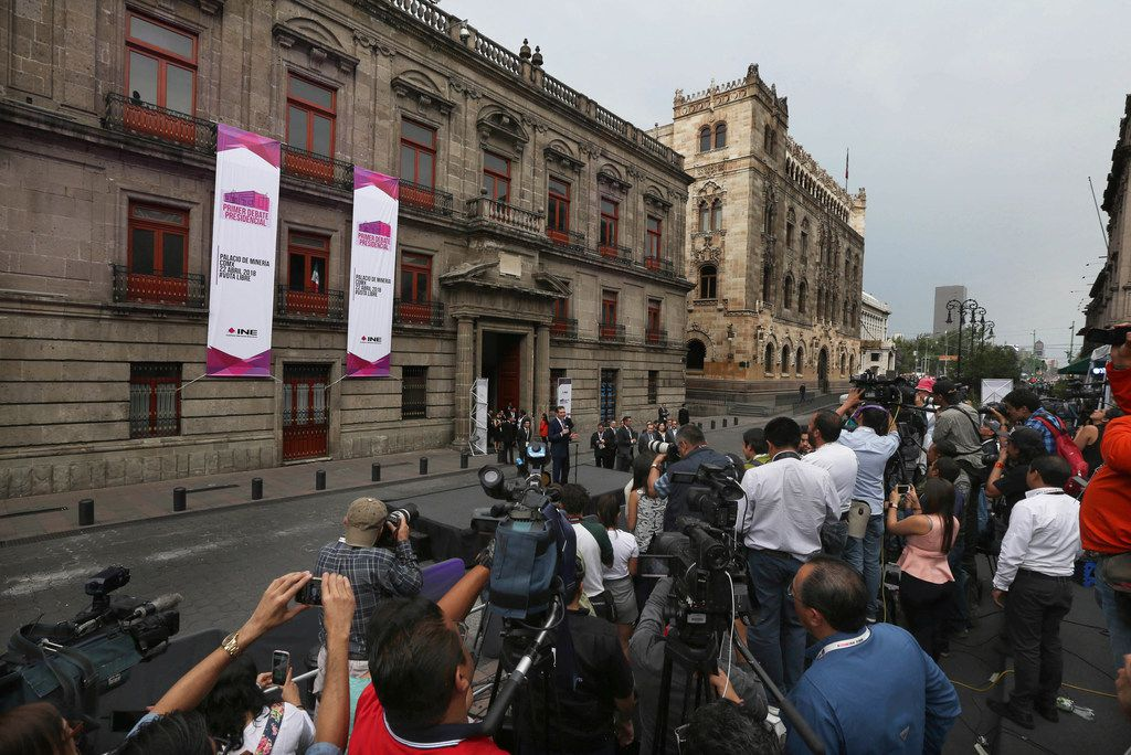 The president of the National Electoral Institute, Lorenzo Cordova Vianello, spoke to the media before last month's first of three debates among presidential candidates in Mexico City. Mexico will hold general elections on July 1.