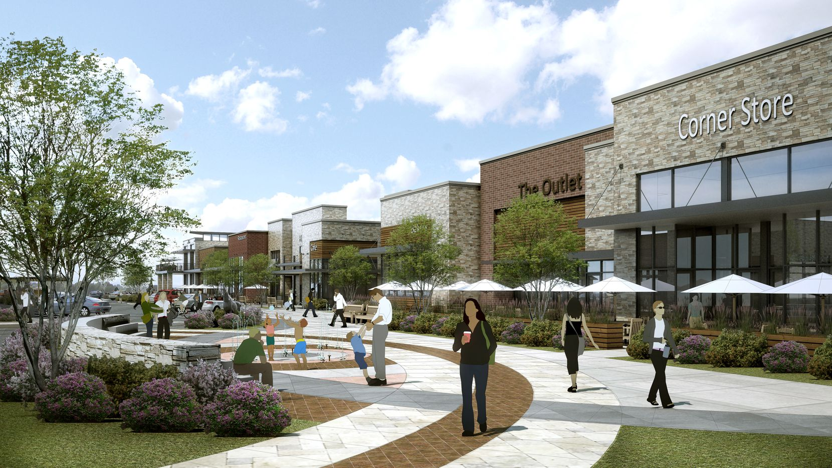 The Shops at Mustang Station will open on Valley View Lane early next year