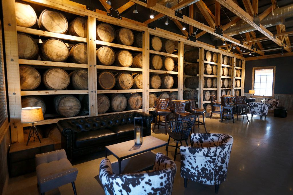 The Texas Tavern room at Firestone & Robertson Distilling Co.'s Whiskey Ranch.
