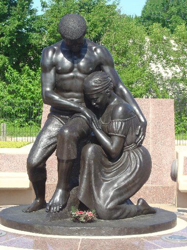 """David Newton's """"Dream of Freedom"""" is a part of the Freedman's Cemetery Memorial in Dallas."""