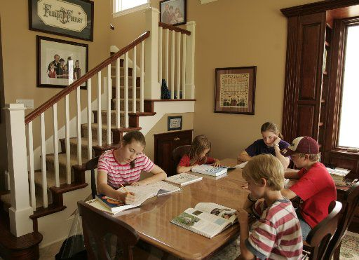 """Home schooling parents could take advantage of """"education savings accounts,"""" which would let them get some state funds to pay for online course fees for their children. If the children are disabled, parents could tap the tax dollars to help pay for computer hardware and software. (2005 Staff File Photo)"""